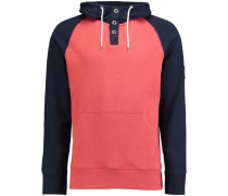 Pullover 'henley' blau / rot