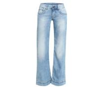 Jeans mit weitem Bein 'Judie' blau
