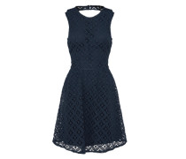 Kleid mit Spitze dunkelblau