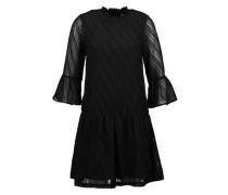 Kleid mit Trompeten-Ärmeln schwarz