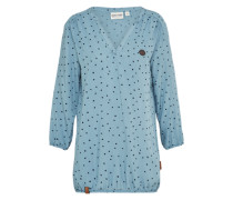 Bluse 'Excuse My French Iii' himmelblau