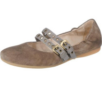 Chantal-Chantilly Ballerinas dunkelbeige / grau