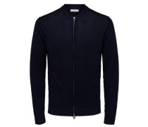 Strick-Cardigan Merinowoll-Mix navy