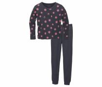 Pyjama lang für Mädchen graphit