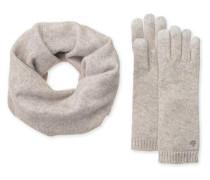 Luxe Smart Glove And Snood Set Damen Light Grey Heather