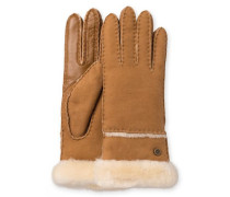 Sheepskin Exposed Slim Tech Glove Damen Chestnut