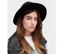 Medium Brim Wool Fedora Damen Black