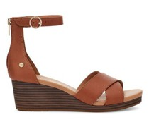Eugenia keilabsatz Sandalen aus Leder