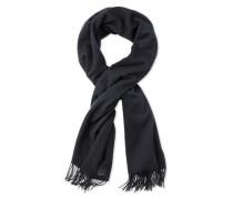 Wool Oversized Fringe Scarf Damen Black