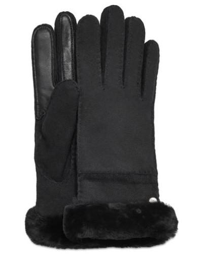 Seamed Tech Handschuhe Damen Black