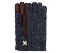 Knit Glove With Smart Leather Palm Herren Graphite Heather L/XL