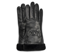 W Classic Leather Logo Handschuhe