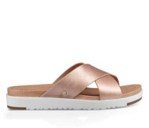 Kari Metallic Sliders Sandalen aus Leder
