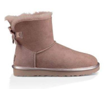 ugg damen mini bailey bow glitter stiefelette bronze