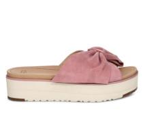 Sommerschuhe Joan II Sliders Sandalen aus Veloursleder in Pink Dawn