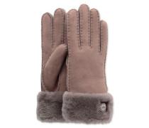Sheepskin Turn Cuff Glove Damen Stormy Grey