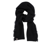 Side Fringe Scarf Damen Black