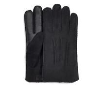 Contrast Schafsleder-Handschuhe aus Schaffell