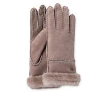 Sheepskin Exposed Slim Tech Glove Damen Stormy Grey