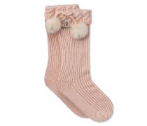 Raana Pom Pom Rain Boot Sock Kinder Fairy Pink / Silver 6/8 Jahre
