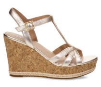 Tanktop Melissa Metallic Sandaletten aus Leder in Gold