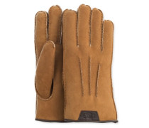 Casual Glove With Leather Logo Herren Chestnut