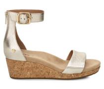 Sommerschuhe Zoe II Metallic Sandaletten aus Leder