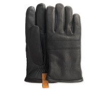 Casual Leather Glove With Pull Tab Herren Black