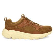 Miwo Low Sneaker aus Veloursleder in Braun