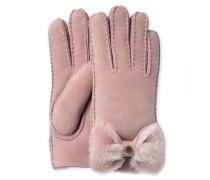 Sheepskin Bow Glove Damen Dusk