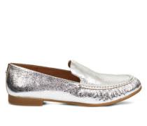 Vivian Metallic Loafers aus Leder in Silber