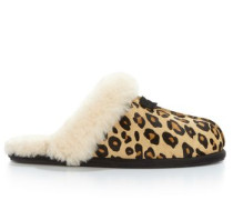 Scuffette II Calf Hair Leopard