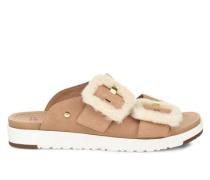 Fluff Indio Sliders Sandalen aus Veloursleder