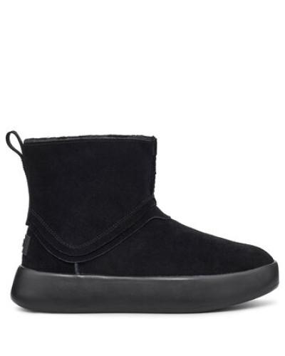 Classic Boom Stiefel aus Veloursleder in Schwarz