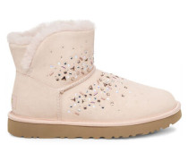 Classic Galaxy Bling Mini Stiefel aus Veloursleder in Quartz