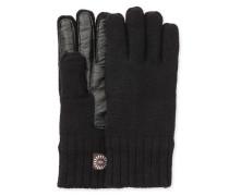Knit Glove With Smart Leather Palm Herren Black L/XL