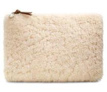 Large Zip Pouch Sheepskin Damen Natural
