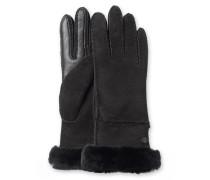 Sheepskin Exposed Slim Tech Glove Damen Black