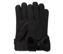 Sheepskin Bow Glove Damen Black
