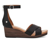 Eugenia keilabsatz Sandalen aus Leder Leather