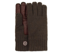 Knit Glove With Smart Leather Palm Herren Spruce L/XL