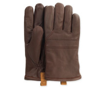 Casual Leather Glove With Pull Tab Herren Cordovan