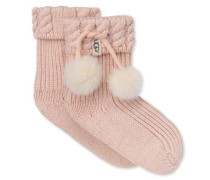 Rahjee Pom Pom Rain Boot Sock Kinder Fairy Pink / Silver 2/4 Jahre