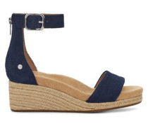Zoe II Sandalen mit Keilabsatz aus Leder