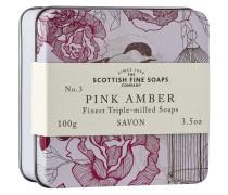 Vintage Pink Amber Seife mit Dose