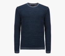 REVERS INDIGO LOOK CREW NECK