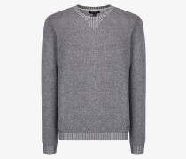 WOOL CASHMERE COTTON CREW NECK