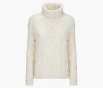 W'S FLAME WOOL CABLE SWEATER