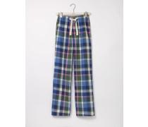 Pyjamahose aus Baumwollpopeline Grün Herren