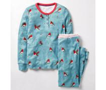 Pyjamaset mit Henleyshirt Blue Mädchen Boden